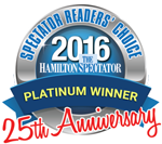 Hamilton Spectator Readers Choice Awards 2016 Platinum Winner