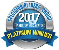 Hamilton Spectator Readers Choice Awards 2017 Platinum Winner